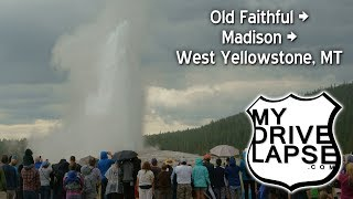 Download Driving from Old Faithful to West Yellowstone Video