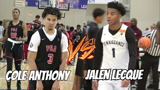 Download Cole Anthony vs Jalen Lecque | EPIC pg Matchup Full Highlights EYBL Session 3 Atlanta Video