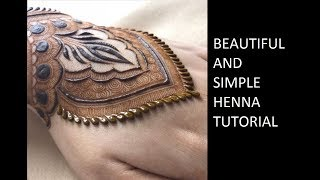 Download Best Henna Tattoo Design Tutorial For Bride | Latest Simple and easy Mehendi | حناء Video
