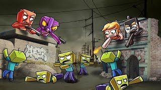 Download Minecraft | ZOMBIE BASE CHALLENGE - Zombie Horde Attacks! (Who will Survive?) Video