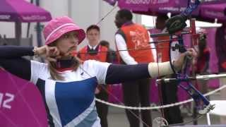 Download Archery - Brown (Great Britain) v Rubio Larrion (Spain) - Women's Ind. Compound Open - London 2012 Video