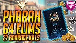 Download #1 Pharah 64 Elims (8 deaths) - 27 Barrage Kills R I A L T O || Valkia [Overwatch] Video