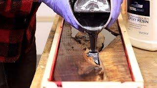 Download Trash Wood To Treasure - DIY Epoxy River Floating Shelves - Hidden Hardware Video