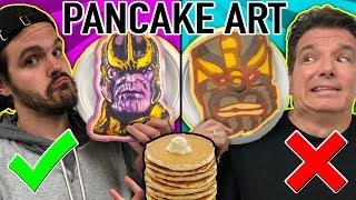 Download PANCAKE ART CHALLENGE!! Learn How To Make Avengers, Danny Phantom, Thanos, Mario DIY Pancake! Video