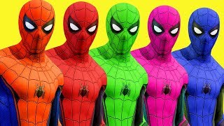 Download Colors for Children to Learn w Spiderman Surprise Toys Wild Animals and Cars 3D Video