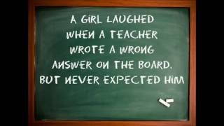 Download A Girl Laughed When The Teacher Wrote A Wrong Answer On The Board. Video