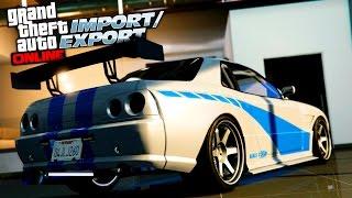 Download GTA 5 Online Elegy Retro Customization! FAST AND FURIOUS SKYLINE GTR Video