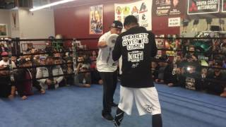 Download Mikey garcia working on fighting a southpaw Video