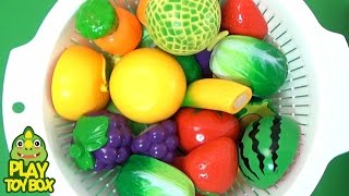 Download Learning Fruits & Vegetables Food Names Sounds for kids Fruits Vegetables Basket with Toys [KOR] Video