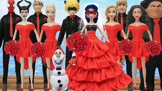 Download Play Doh Spiderman Ladybug Cat Noir Moana Maui Elsa Jack Frost Anna Olaf Maleficent FROZEN (2) Video