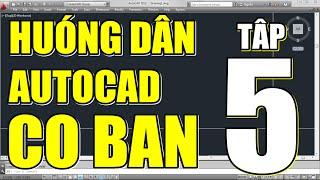Download ✔ AutoCAD cơ bản - Tập 5: Các lệnh hiệu chỉnh dùng nhiều trong CAD Video