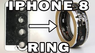 Download iPhone 8 Turned into a Ring with a 60,000 psi Waterjet Video