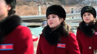 Download North Korean cheerleaders in high spirits on Olympic arrival Video