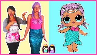 Download LOL Surprise Dolls in Real Life MERBABY Make Up + Dress Up Play at Pretend Toy Hair Salon Video