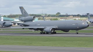 Download [4K] USAF Heavy Operations at Prestwick Airport May 2019   3 KC10As 2 C17s & 2 C5Ms Video