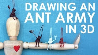 Download DRAWING A 3D ANT ARMY (Using Scribbler 3D Pens!) Video