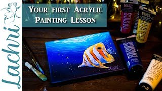 Download Acrylic Painting for Beginners - Lachri painting step by step Video