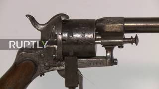 Download France: Poetry's most notorious gun on display ahead of Paris auction Video