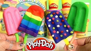 Download Play Doh Popsicles Scoops 'n Treats DIY Ice Cream Ultimate Rainbow Popsicle Paleta Ghiacciolo Video