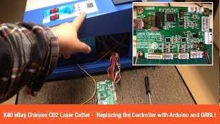Download K40 eBay Chinese CO2 Laser Cutter - Replacing the Controller with Arduino and GRBL Part 1! Video