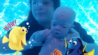 Download Baby Can Swim Under Water! Full Body Silicone Baby Doll Video
