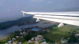 Download Amazing view of flight Landing at Port Blair, Andaman Islads Video
