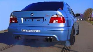 Download BMW M5 E39 V8 Sound + 0-280 Acceleration Autobahn Onboard Flames Eisenmann Exhaust Video