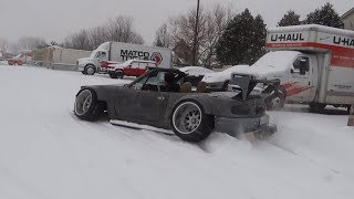 Download Idiot Drifts Insane Miata In Snow!? Video