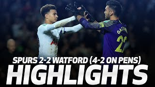 Download HIGHLIGHTS | SPURS 2-2 WATFORD (4-2 ON PENS) | CARABAO CUP THIRD ROUND Video