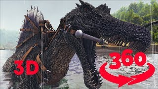 Download JURASSIC DINOSAUR || Riding a Spinosaurus in VR || VR 360 in Stereo 3D Video