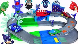 Download Let's play in PJ Masks Nighttime adventures rumblers track playset with Rusty Rivets! - DuDuPopTOY Video