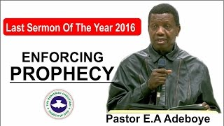 Download Pastor E.A Adeboye Last Sermon 2016 @ RCCG 2016 CROSSOVER NIGHT SERVICE Video