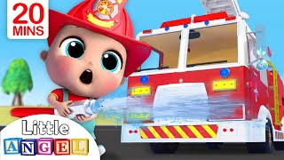 Download Fire Truck Song | Firefighter to the Rescue | Nursery Rhymes - Little Angel Video