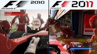 Download F1 Game Comparison (2010 - 2017 PIT Stop Gameplay Comparison) Video
