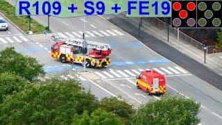 Download airview hovedstadens beredskab ST.FB TLF R109 + DLK S9 + VRW FE19 brandbil i udrykning Video