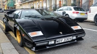 Download LOUD Lamborghini Countach S in London! Start-up and driving scenes [HD] Video