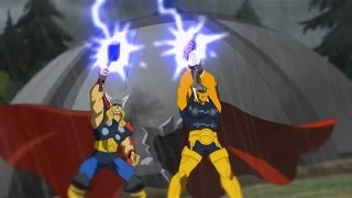 Download Planet Hulk: Thor and Beta Ray Bill vs Kronan Video
