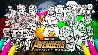 Download Avengers Infinity War Cover Coloring page | Marvel LEGO Superheroes Video