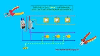 Download schema electrique branchement cablage télérupteur unipolaire Video