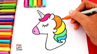 Download Aprender a Dibujar un UNICORNIO de Colores con el Cuerno Brillante usando Brillantina Video