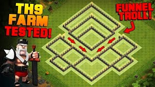 Download Clash of Clans | NEW TH9 Farming Base with BOMB TOWER | BEST Town Hall 9 Hybrid Base + REPLAYS Video