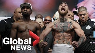 Download Floyd Mayweather vs. Conor McGregor weigh-in before superfight Video