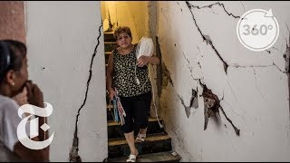 Download Leaving a Condemned Mexico City Building | The Daily 360 Video