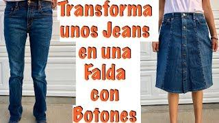 Download De Jeans a una Falda con Botones Video