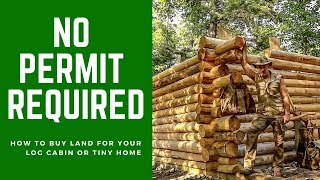 Download No Permit Required! How to Buy Land for Your Off Grid Log Cabin or Tiny Home in Canada Video