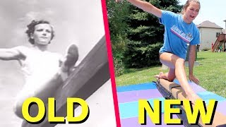 Download Trying OLD Olympic Gymnastics Skills! Video