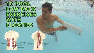 Download 10 Pool Low Back Exercises With Floats Video