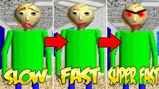 Download Baldi's Basics SLOW vs. FAST vs. SUPER FAST Video