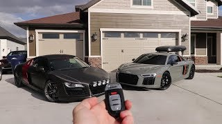 Download Swapping out the Lambo for an Audi R8 V10 Plus Video