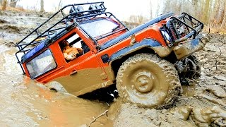 Download RC Trucks MUD OFF Road Rescue and Stuck — RC Jeep Wrangler Rubicon VS Land Rover Defender 90 Part3 Video